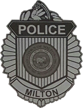 Milton Massachusetts Police Badge