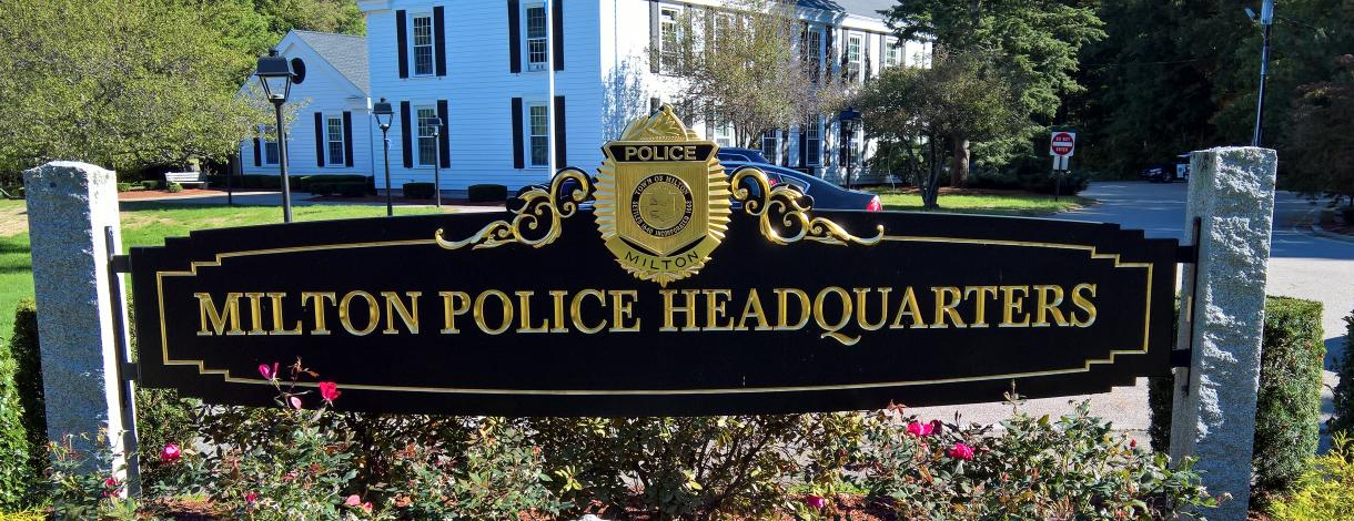 Image of Sign in front of Police Department